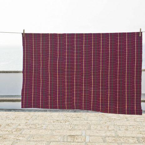 D50 nigerian raw silk shawl 1950s