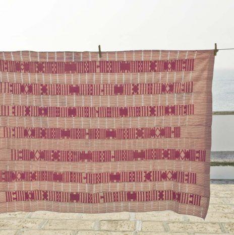 D58 nigerian raw silk shawl 1950s