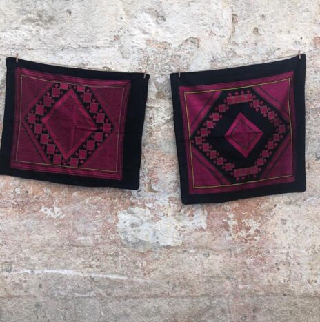 Antique Swat Valley Pakistan Hand Embroidered Silk Cushions