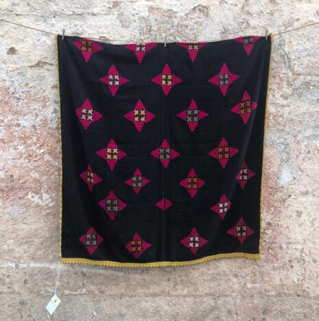 Fine Silk Hand Embroidered Swat Valley Wedding Shawl