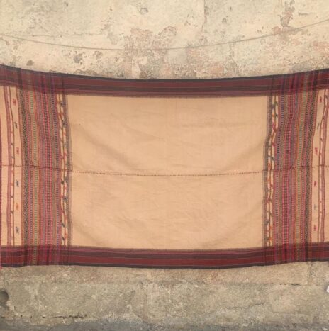 Hand Woven Hand Spun Throw From Northern India