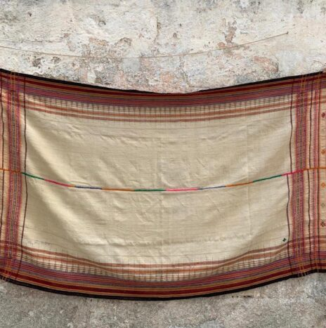 Hand Woven Hand Spun Throw From Northern India N. 2